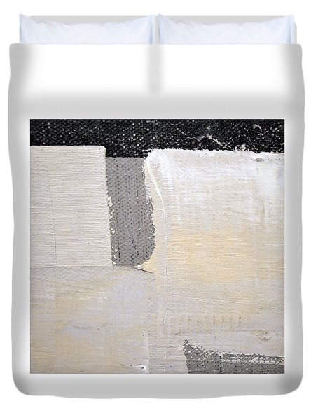 Duvet Cover featuring the painting Square Study Project 3 by Michelle Calkins
