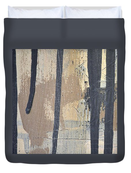 Duvet Cover featuring the painting Square Study Project 5 by Michelle Calkins