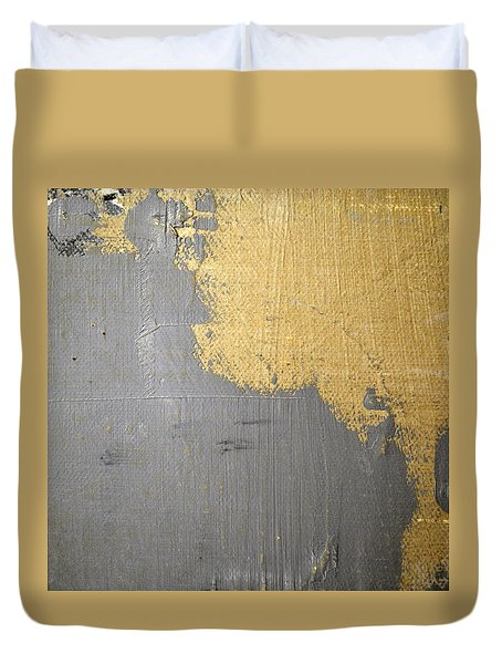 Duvet Cover featuring the painting Square Study Project 6 by Michelle Calkins