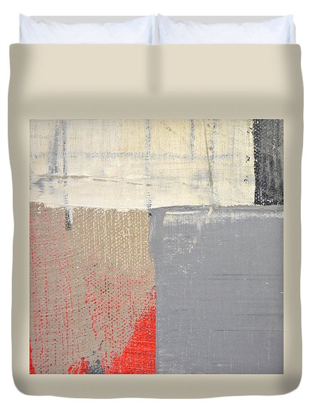 Duvet Cover featuring the painting Square Study Project 8 by Michelle Calkins