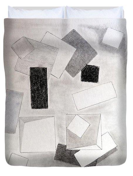 Squares And Shadows Duvet Cover