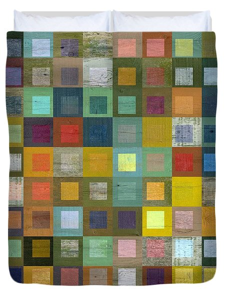 Squares In Squares Five Duvet Cover by Michelle Calkins