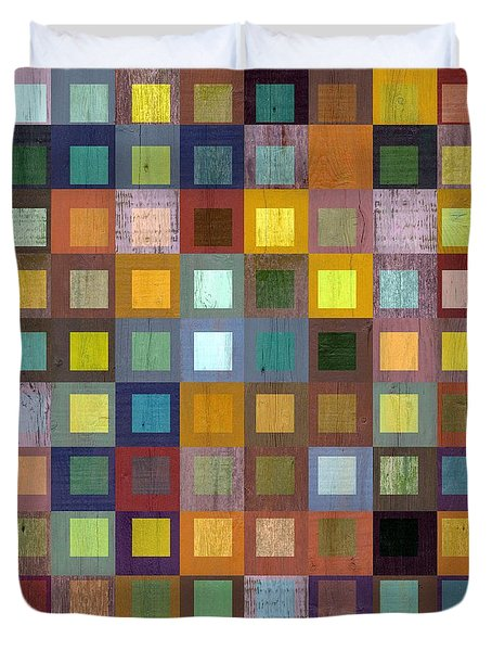 Squares In Squares One Duvet Cover by Michelle Calkins