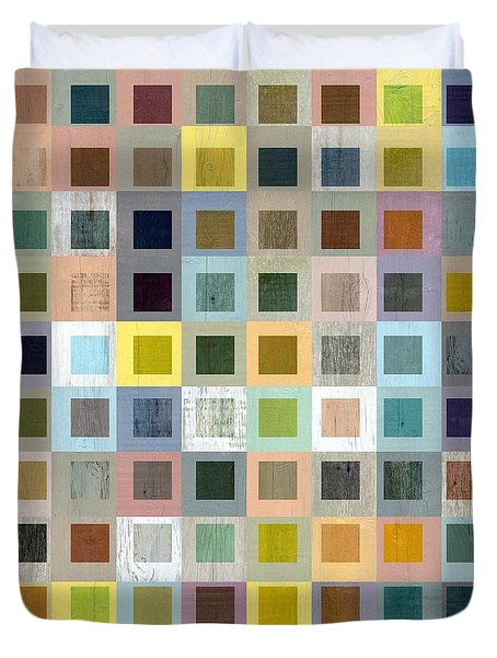 Squares In Squares Three Duvet Cover by Michelle Calkins
