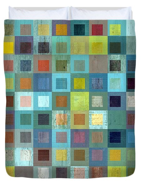 Squares In Squares Two Duvet Cover by Michelle Calkins