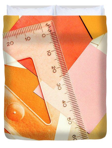 Squaring A Triangular Rule Duvet Cover