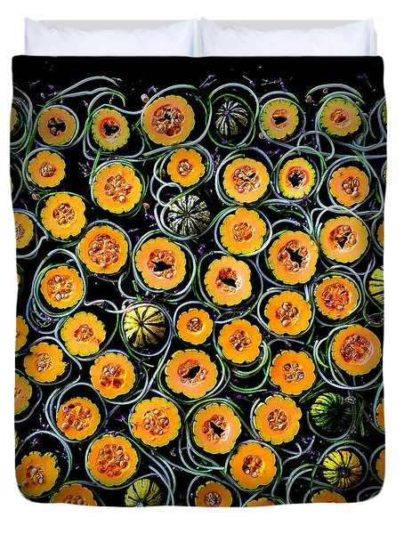 Squash And Zucchini Patters Duvet Cover