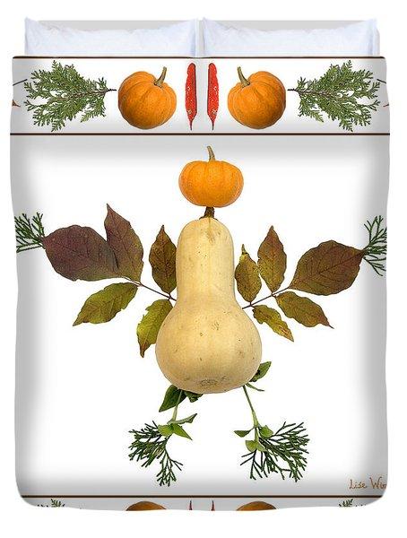 Squash With Pumpkin Head Duvet Cover