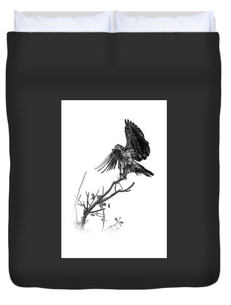 Squaw Creek Red-tail Duvet Cover