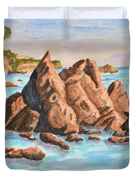 Squid Rock Duvet Cover
