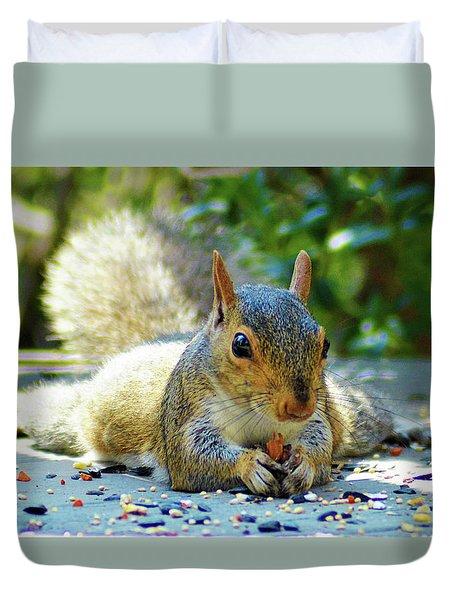 Squirrel Closeup Duvet Cover