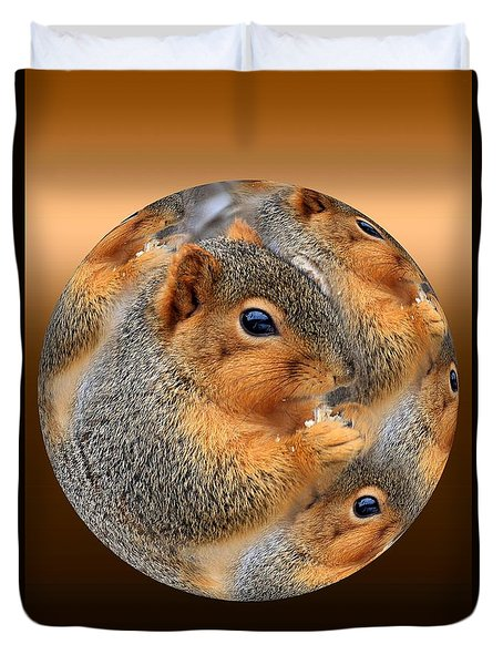 Squirrel In A Ball No.3 Duvet Cover