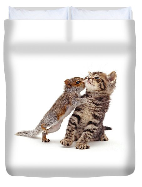 Squirrel Kiss Duvet Cover