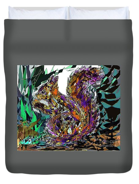Squirrel Duvet Cover by Navo Art