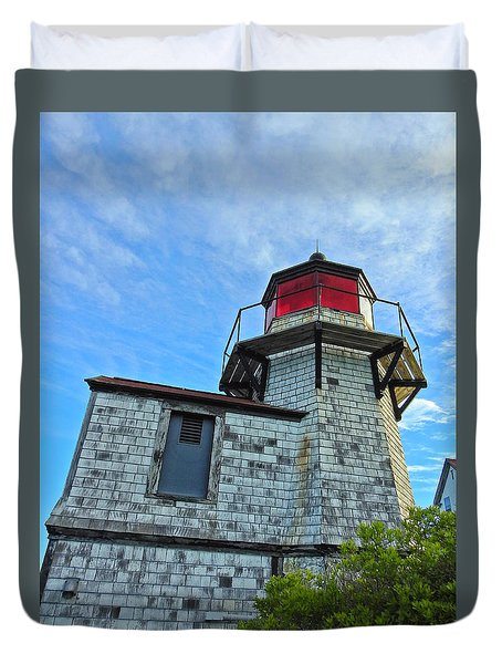 Squirrel Point Lighthouse Duvet Cover