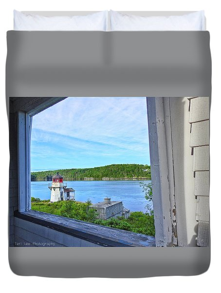 Squirrel Point View From The Deck Duvet Cover