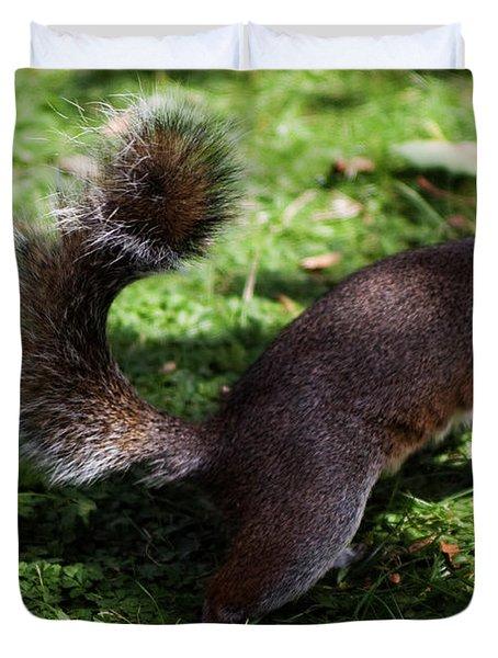 Squirrel Running Duvet Cover