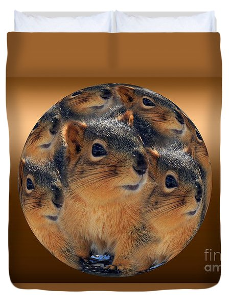 Squirrels In A Ball No. 2 Duvet Cover