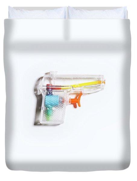 Squirt Gun Duvet Cover