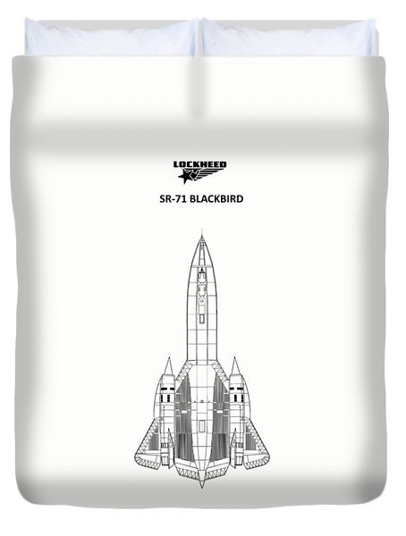 Sr-71 Blackbird Duvet Cover by Mark Rogan