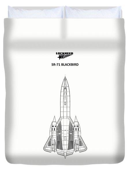 Sr-71 Blackbird Duvet Cover