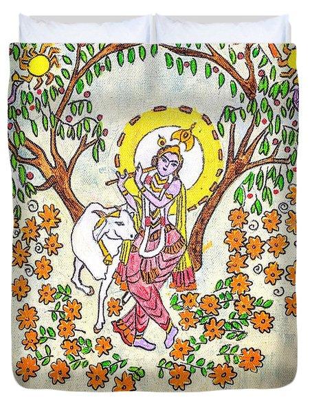 Sri Krishna Duvet Cover