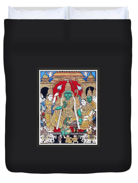 Sri Ramar Pattabhishekam Duvet Cover