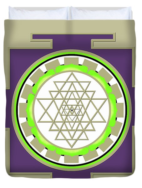 Sri Yantra Of Prosperity Duvet Cover