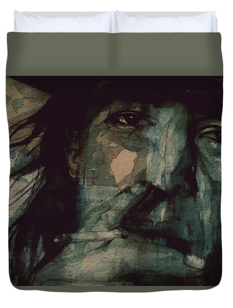 Duvet Cover featuring the painting SRV by Paul Lovering