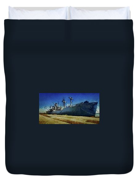 Ss Lane Victory Duvet Cover by Joseph Hollingsworth