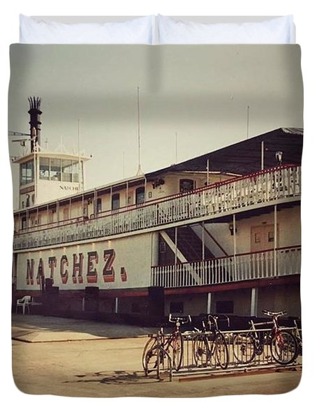 Ss Natchez, New Orleans, October 1993 Duvet Cover by John Edwards
