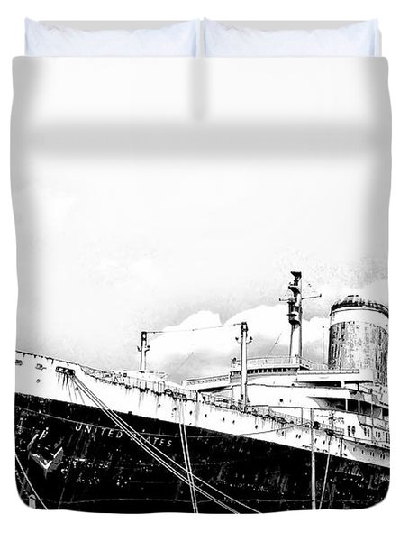 Ss United States Duvet Cover by Bill Cannon