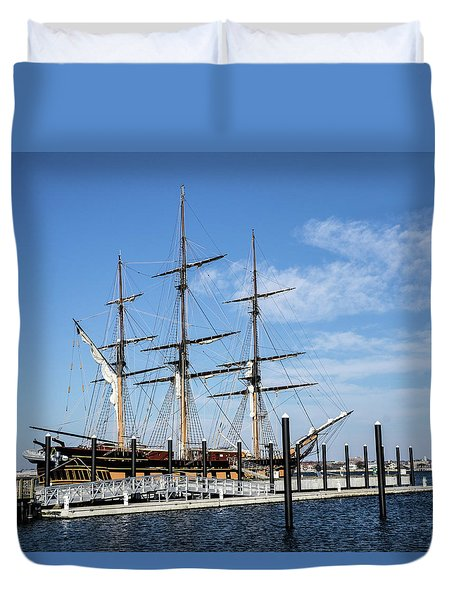 Ssv Oliver Hazard Perry Duvet Cover by Nancy De Flon
