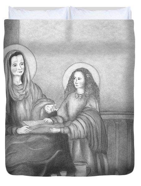 St. Anne And Bvm Duvet Cover
