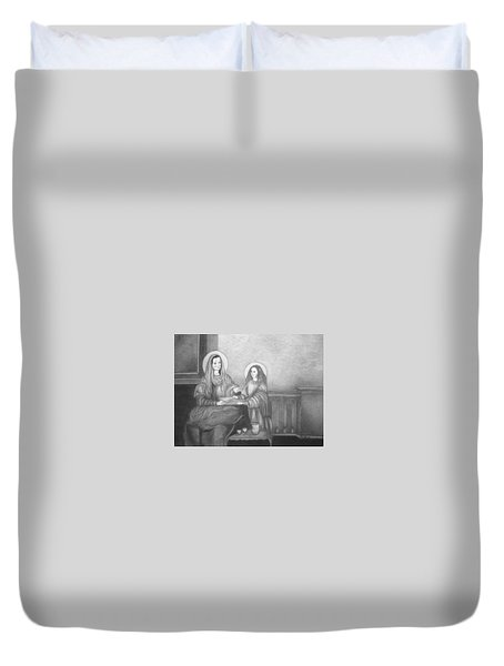 St. Anne And Bvm Duvet Cover