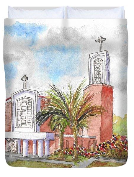 St. Anthony Of Padua Catholic Chuch, Manteca, California Duvet Cover