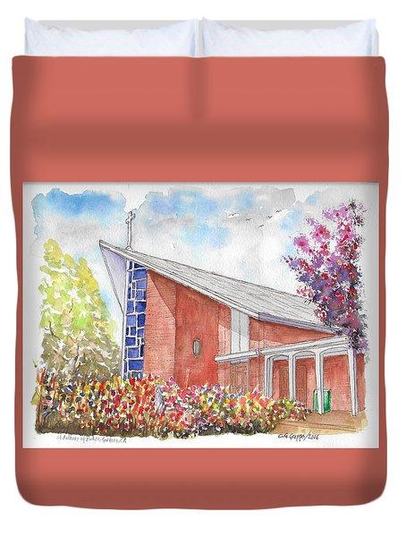 St. Anthony Of Padua Catholic Church, Gardena, California Duvet Cover