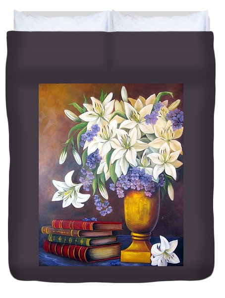St. Anthony's Lilies Duvet Cover