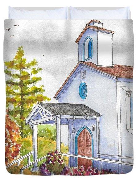 St. Anthony's Catholic Church, Mendocino, California Duvet Cover