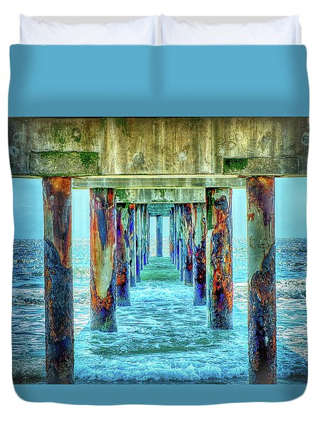 Duvet Cover featuring the photograph St. Augustine Beach by Louis Ferreira