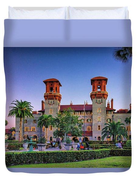 St. Augustine, Fl - Lightner Lights Duvet Cover