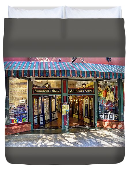 St Augustine Indoor Mall Duvet Cover