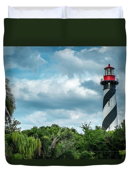 Duvet Cover featuring the photograph St. Augustine Lighthouse by Louis Ferreira