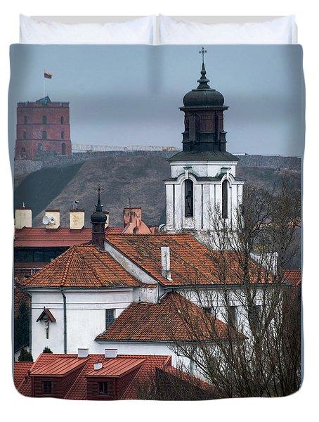 St Bartholomew And Vilnius Castle Duvet Cover