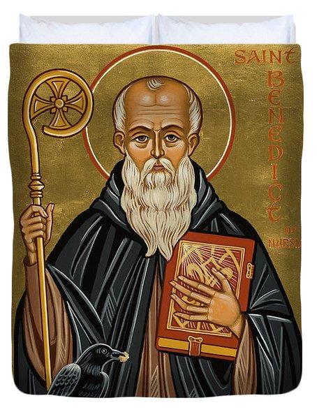 St. Benedict Of Nursia - Jcbnn Duvet Cover