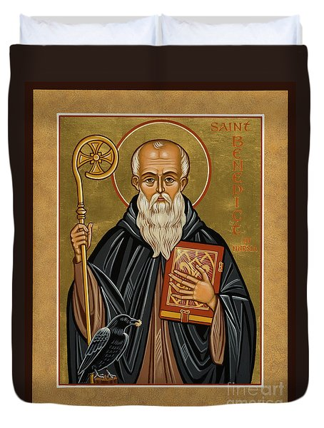 St. Benedict Of Nursia - Jcbnn Duvet Cover