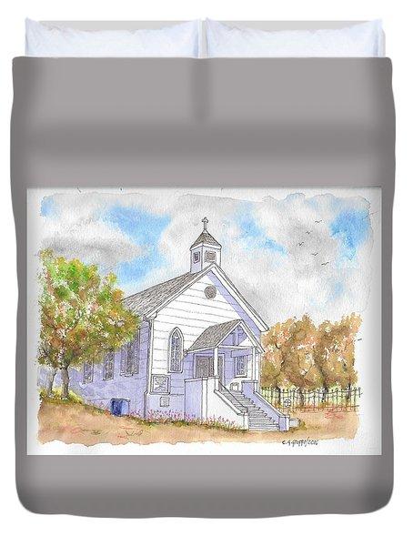 St. Bernard's Catholic Church, Volcano, California Duvet Cover