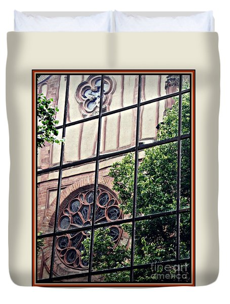 St Boniface Church In Reflection  Duvet Cover by Sarah Loft