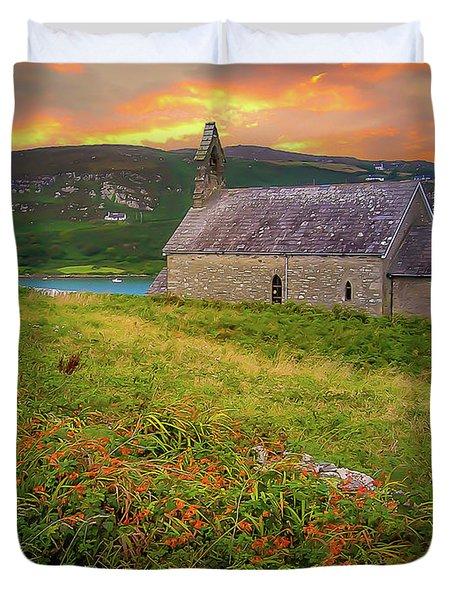 St. Brendan The Navigator Church Of Ireland In Crookhaven Duvet Cover