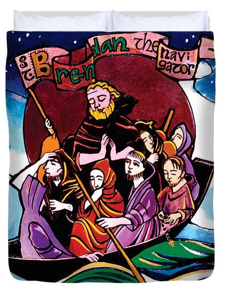 St. Brendan The Navigator - Mmbre Duvet Cover